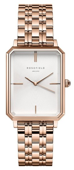 ROSEFIELD The Elles White Sunray Steel Gold 22mm OCWSRG-O42