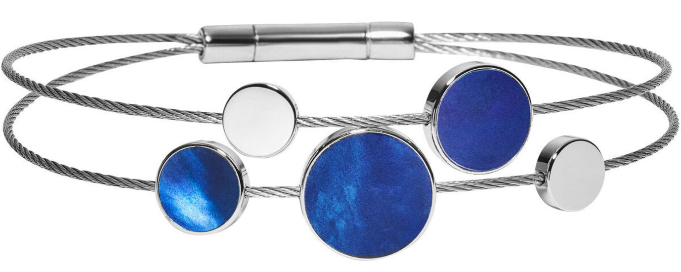 SKAGEN Agnethe Silver-Tone Mother-of-Pearl Bracelet SKJ1264040