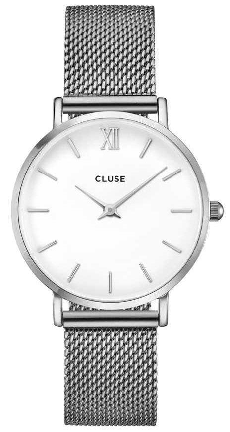 CLUSE MINUIT MESH SILVER WHITE CW0101203002